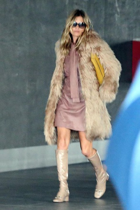70年代風の毛皮のコート