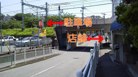 駐車場の位置・横浜市金沢区リサイクルショップ