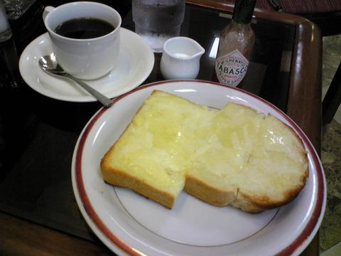COFFEE HOUSE 亜芽里館:?モーニング530円全景100626
