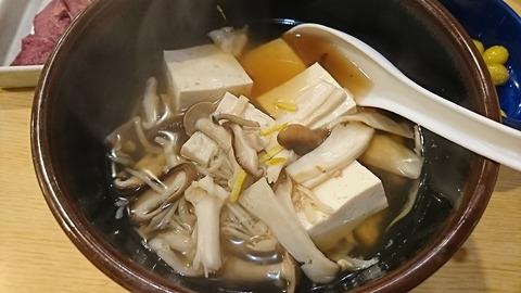 えんぱち:⑥きのこ豆腐500円171202