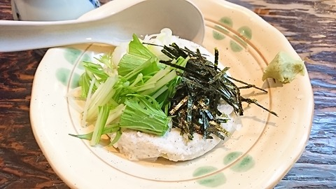 やぶ:⑤そば豆腐の冷奴400円191216