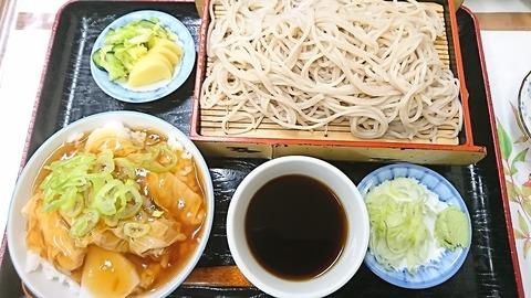 朝日屋:①ユバアンカケ丼セット900円190316