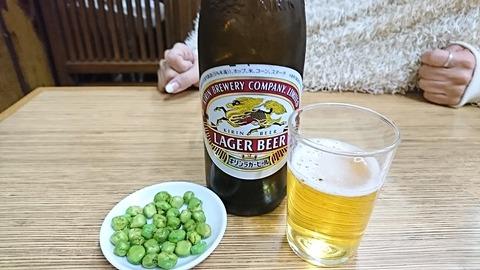 翁そば:②大瓶ビール600円191221