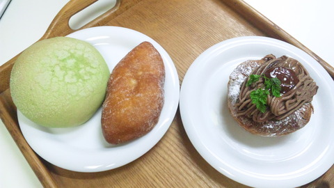 NIKI BAKERY:①菓子パン3種全景150711