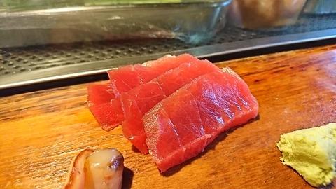 常寿司:⑨刺身鮪赤身190105