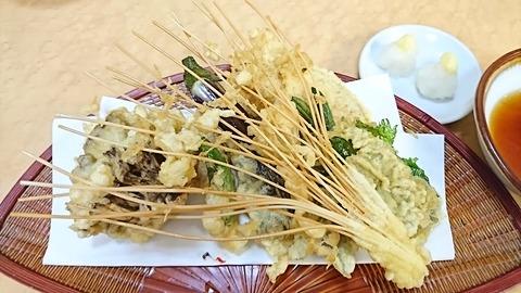 白樺:⑤野菜天ぷら盛り840円191213