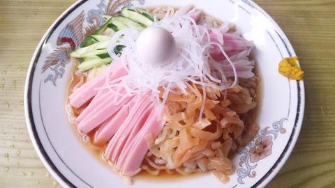 餃子の王さま:①冷しそば850円160625