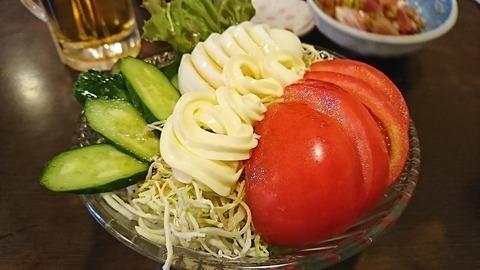かあちゃん:①生野菜サラダ450円190404