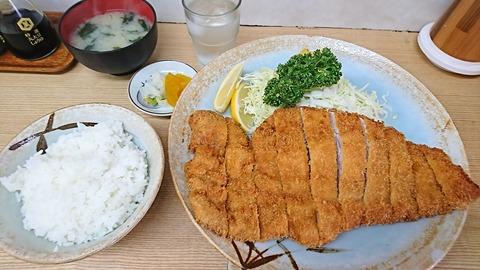 河金:①ヒレかつ定食100匁2600円180401