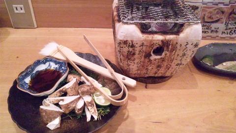 魚菜:①松茸炭火焼き1300円全景121028