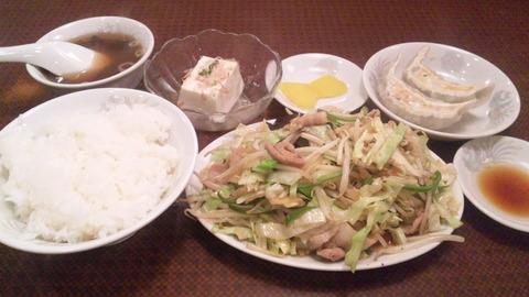 珍来:①肉野菜炒め定食850全140127