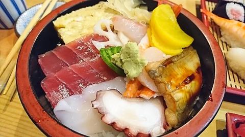 亀寿司:⑪ちらしすし750円191215