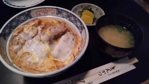 フジ家:①カツ丼800円全景120429