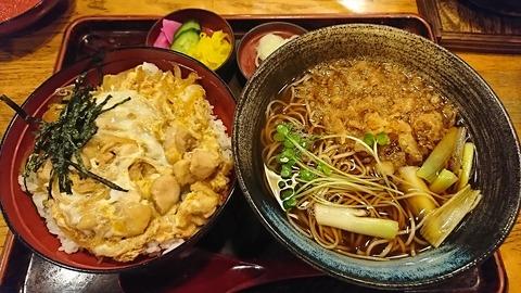 奈可川:①親子丼セット950円181029
