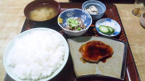 常盤仙食堂:①日替定食580飯大90納豆150416