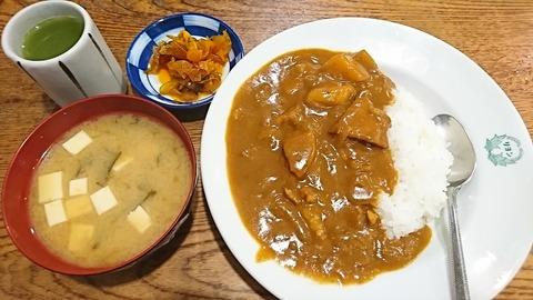 ときわ食堂:①カレーライス550汁80円190712
