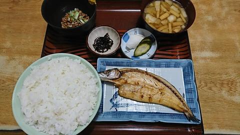 常盤仙食堂:①B定食630飯大納豆181207