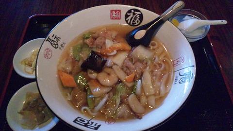 福楽:①五目野菜刀削麺750円全景110910