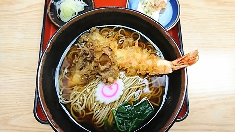 尾張屋:①天ぷらそば900円191222