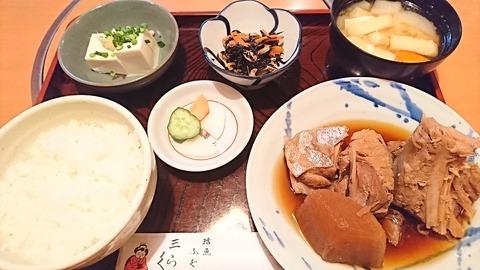 三楽:②まぐろ煮付け定食930円190202