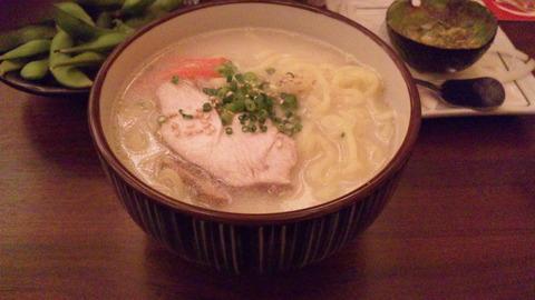 チョモランマ:①白湯ラーメン180円150922