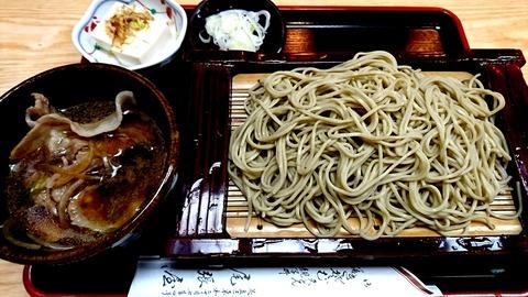 尾張屋:①イベリコ豚ノツケ汁ソバ950円191002