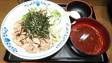 越後そば:①肉蕎麦つけ麺780円180404