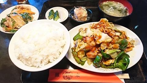 鳳来:①F定食800中華丼小鉢190708