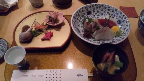 清寿司:①雪コース3800円お通し突出刺身全110503