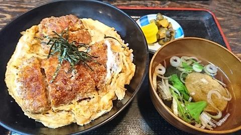 やぶ:①黒豚上かつ丼1000円191120