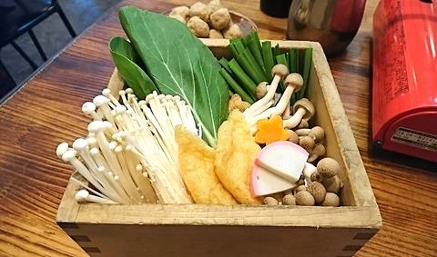 ちゃんこ場:⑪追加野菜盛650円191220