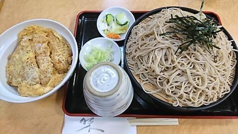 白樺:①カツ丼セット920ソバ大盛150円190618