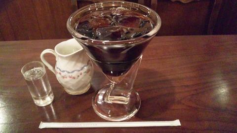 壹眞珈琲店:①アイスコーヒー620全景150930