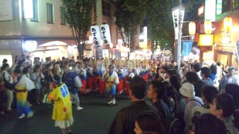 神楽坂阿波踊り29あずさ連160729