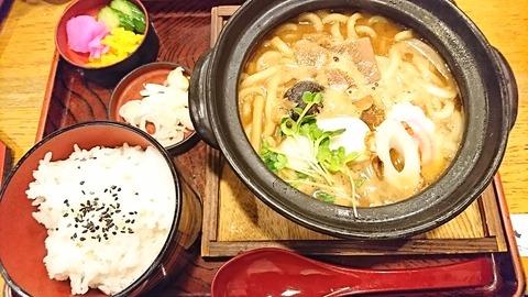 奈可川:①味噌煮込ミウドン950&飯190408
