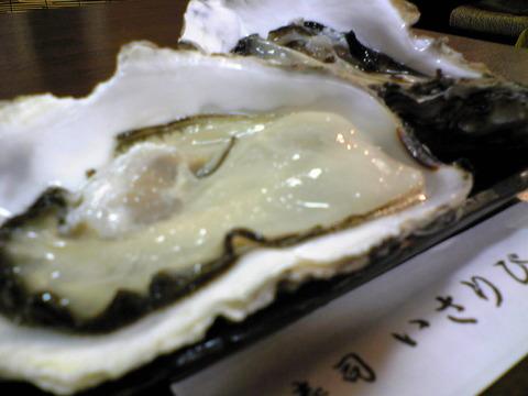 寿司いさりび:④三陸産生牡蠣二個600円全景101023