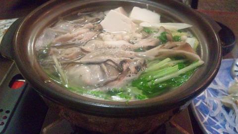 てんたけ:①かき鍋1950円完成161110