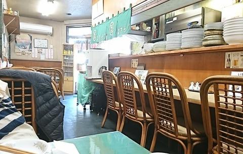 きもり:店③奥テーブルカラ入口ヲ臨ム191109
