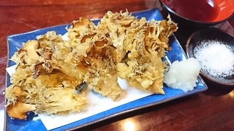 尾張屋:⑧舞茸の天ぷら450円191129