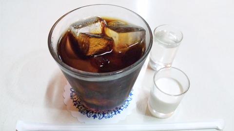 喫茶モンブラン:①アイスコーヒー600全景120429