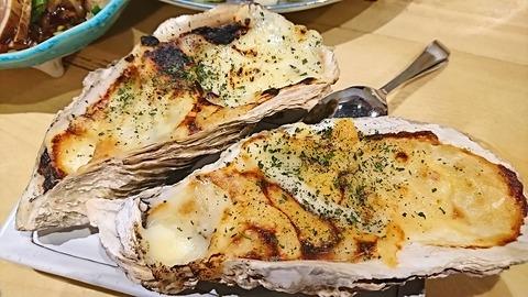 かつを:⑧牡蠣グラタン450円2個171208