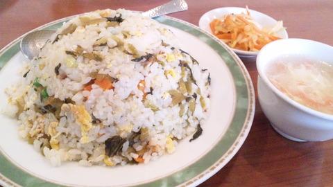 哈爾濱:①高菜炒飯セット大盛700全景150314