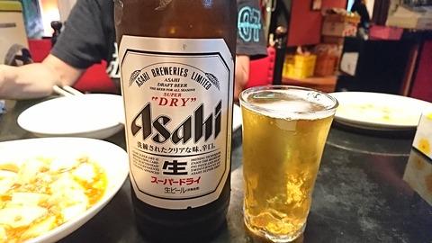 鳳来:⑦大瓶ビール600円181018