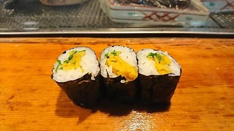 常寿司:⑯沢庵大葉巻190105