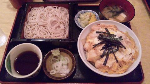 琴富貴:①親子丼セット900円160514