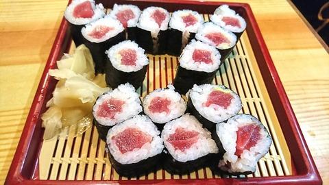 亀寿司:⑦鉄火巻830円191103