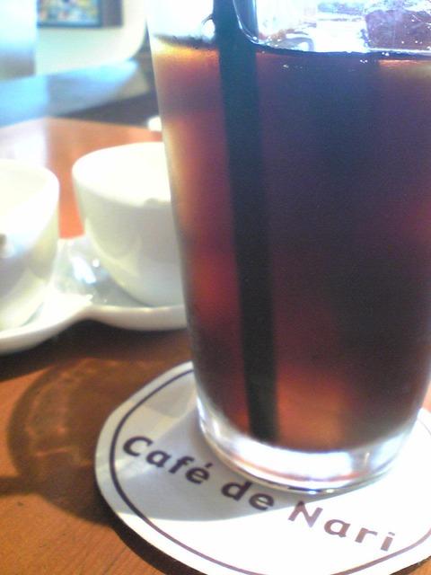 カフェ・ド・ナリ:?ランチセットのアイスコーヒー100724