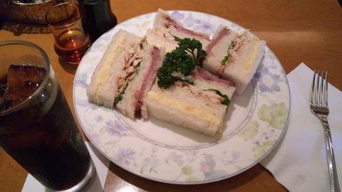 上野風月堂:①スペサンド1200セットコーヒー200全110827