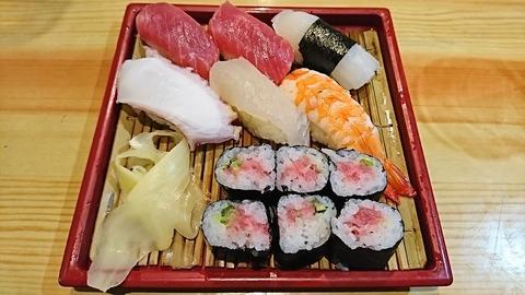 亀寿司:①にぎりすし750円170205