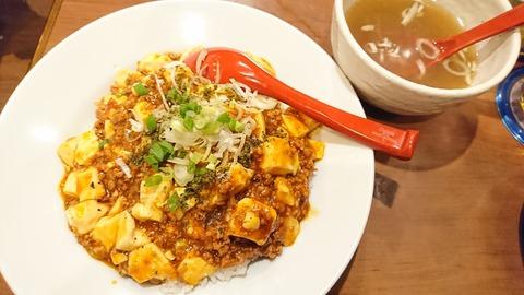 竹:①マーポー丼700円170602